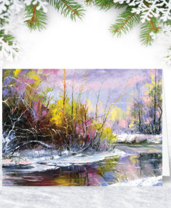 L0124 Shades of Winter Christmas Card