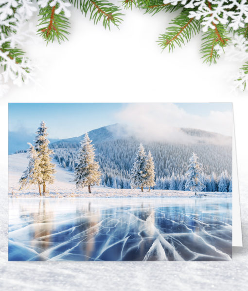 Frozen Lake Christmas Card