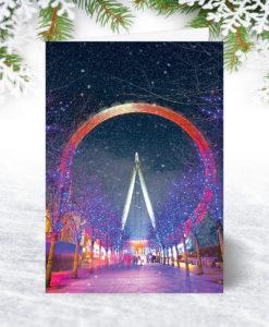 London Eye in the Snow Christmas Card