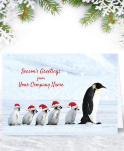 Penguin Procession Christmas Card