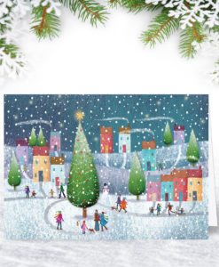 Personalised Colourful Corporate Christmas Card
