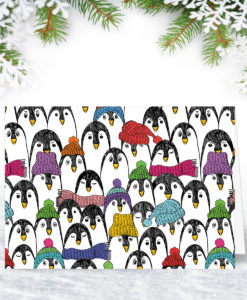 Hats and Scarves Christmas Card