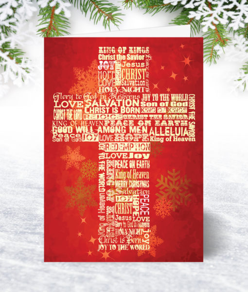 Christmas Cross Christmas Card