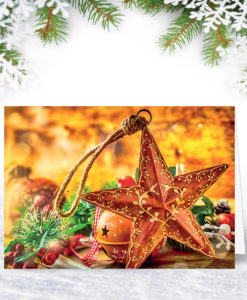 Christmas Star Christmas Card