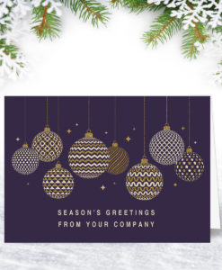 Classic Personalised Company Christmas Card