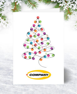 Corporate Christmas Card with Company Logo