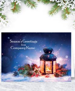 Festive Lantern Christmas Card