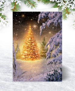 Golden Glow Christmas Card