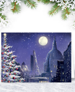 Moonlit London Christmas Card