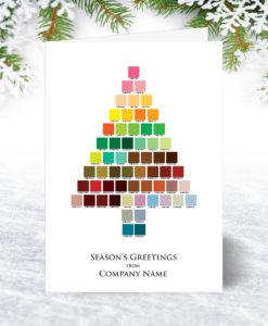 Palette Tree Christmas Card
