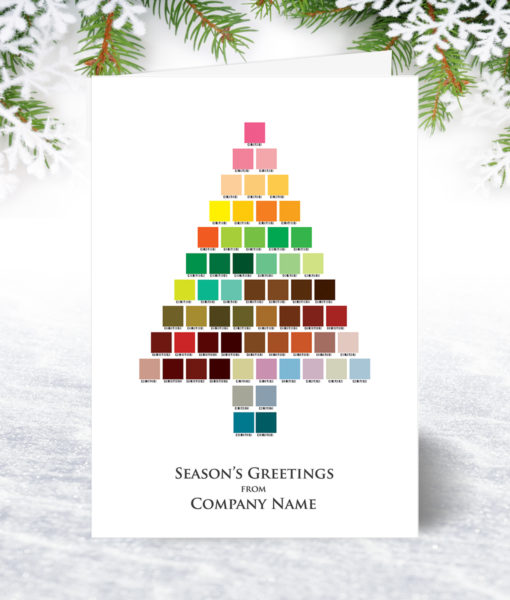 Palette Tree Christmas Card