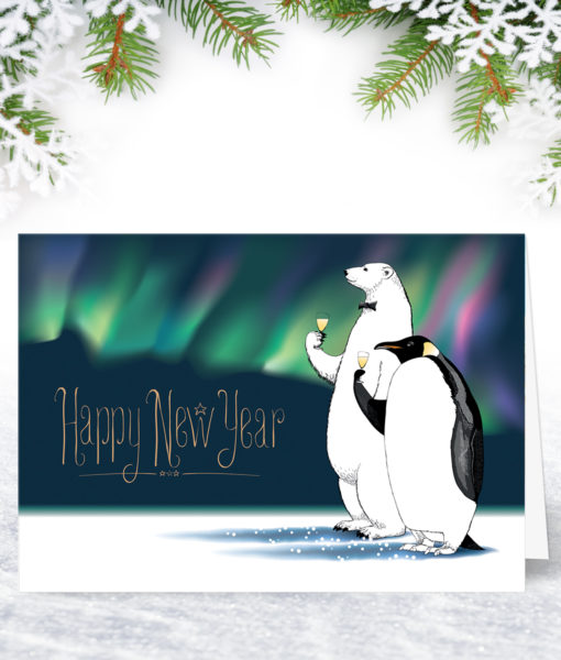 Personalised New Years Christmas Card