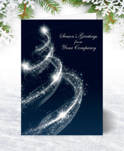 Spiral Tree Christmas Card