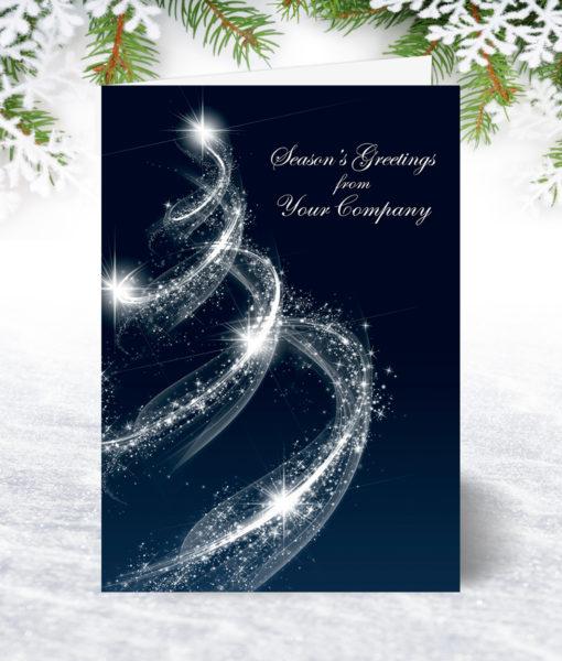 Spiral Tree Christmas Card