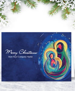 The Birth Religious Christmas Card