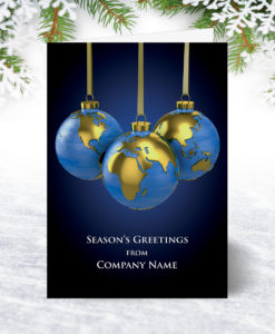 World Baubles Christmas Card
