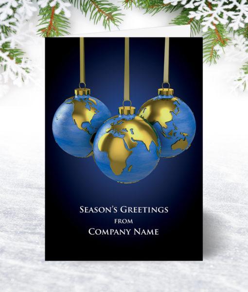 World Baubles Christmas Card