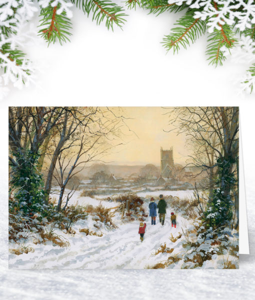 A Winter Walk Christmas Card