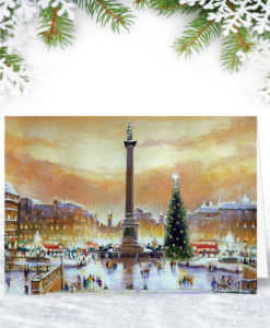 Trafalgar Square London Christmas Card