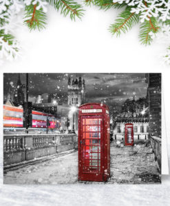 Winter in London Christmas Card