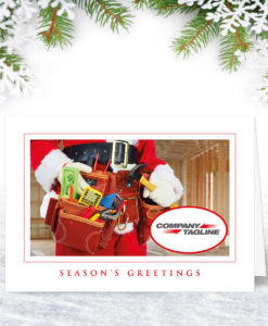 Personalised Christmas Card for Builders