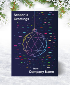 U0172 Neon Bauble Christmas Card