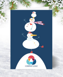 U0173 Snowman Tumble Christmas Card