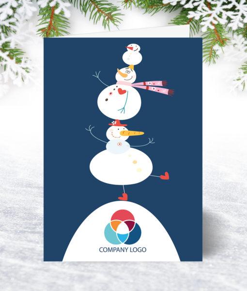 U0173 Snowman Tumble Christmas Card