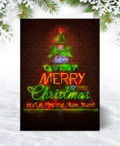 Neon Design Christmas Card