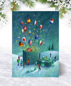 Global Good Wishes Personalised Christmas Card