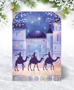 Holy Night Personalised Christmas Card
