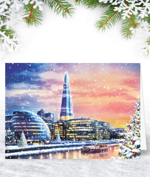 By the River London Christmas Card