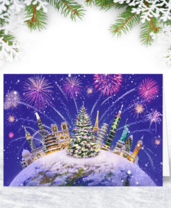 Global Celebrations Personalised Christmas Card from Corporate Collection