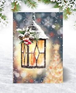 U0201 Christmas Lantern Christmas Card