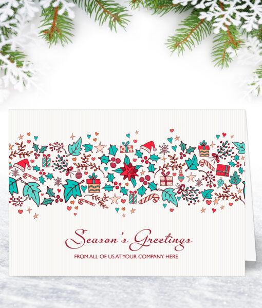 Candy Cane Wreath Christmas Card