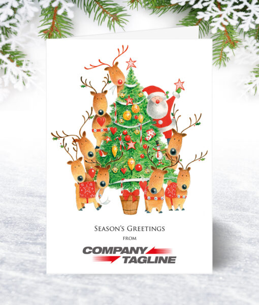 Decorating the Tree Christmas Card