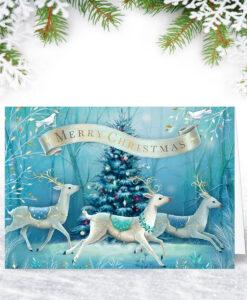 Enchanted Reindeer Christmas Card