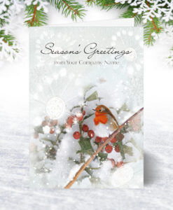 Robin and Berries Christmas Card
