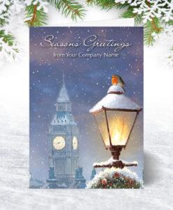 Robin and Big Ben Christmas Card