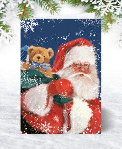 Santa and Ted Christmas Card